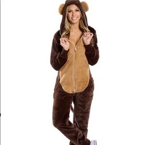 Tipsy Elves Monkey Onesie with Removable Diaper M